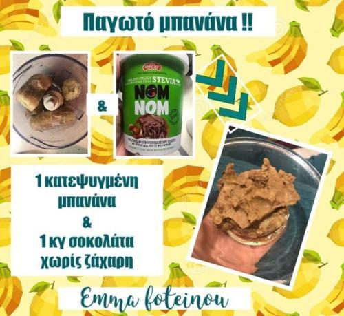 παγωτό σοκομπανάνα